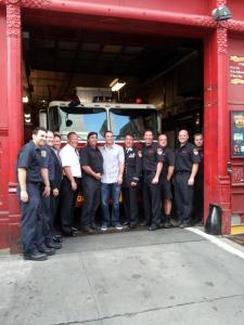 David Wright taking time to honor members of the FDNY will now honor those who served during Sandy with 'The Wright Thing' program. Photo by: Stacy Podelski