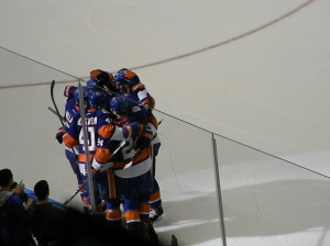 Islanders celebrating. Photo by:  Stacy Podelski