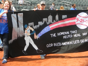 The winning Banner from the 2012 Mets Banner Day. Photo by: Stacy Podelski