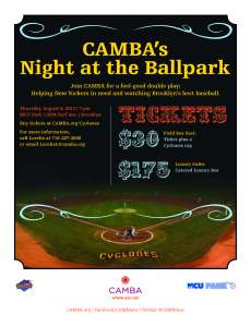 Camba Night at the Ballpark Flyer
