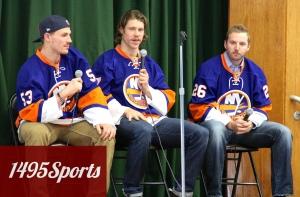 Casey Cizikas, Matt Martin and Thomas Vanek. Photo by: Stacy Podelski/1495 Sports