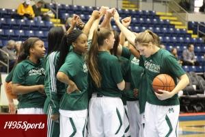 Manhattan Women's Basketball. Photo by: Stacy Podelski