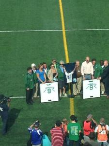 The Family of the late Cosmos Great Georgio Chinaglia gather at the Number Retirement Ceremony the team had prior to the Match versus Ottawa Fury on 6/8/14. Photo by: Brad Kurtzberg