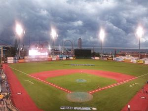The Clouds that were above MCU Park on 6/2/14. Photo by: Stacy Podelski/1495 Sports