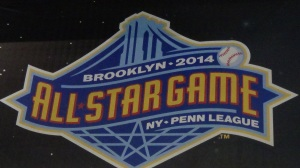 The Logo for the 2014 New York-Penn League All-Star Game. Photo by: Stacy Podelski/1495 Sports