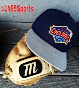 Hat and Glove of one of the Brooklyn Cyclones Players. Photo by: Stacy Podelski/1495 Sports