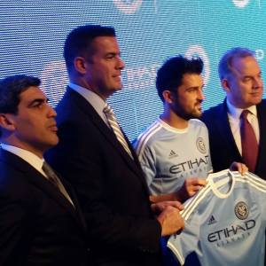 NYCFC Unveils First Ever Home Jersey. Photo by: Stacy Podelski/1495 Sports