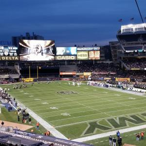 Yankee Stadium played host to College Football on 11/8 as Army took on UConn. Photo by: Stacy Podelski/1495 Sports