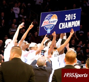 Villanova are the 2015 BIG EAST Champions. Photo by: Stacy Podelski/1495 Sports