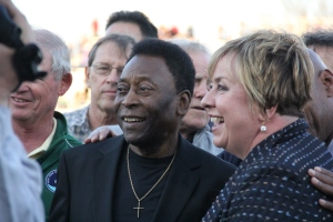 New York Cosmos Honorary President Pele at the 2015 Home Opener. Photo by: Stacy Podelski/1495 Sports