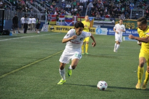 Wálter Restrepo was impressive in the Cosmos Home Opener. Photo by: Stacy Podelski/1495 Sports