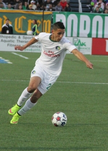 Leo Fernandes scored the game-winning goal for the New York Cosmos on 4/18. Photo by: Stacy Podelski/1495 Sports