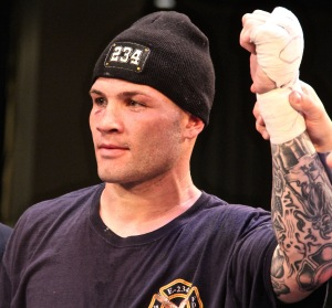 Main Eventer Will Rosinsky from Lynbrook, NY representing FDNY Engine 234 won his Light Heavyweight Bout. Photo by: Stacy Podelski/1495 Sports