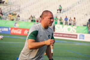 New York Cosmos Head Coach Giovanni Savarese prior to the match v Indy Eleven. Photo by: Stacy Podelski/1495 Sports