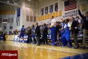 The Hofstra Men's Basketball team. Photo by: Stacy Podelski/1495 Sports