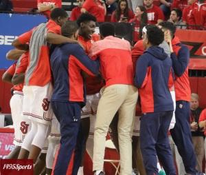 St. John's Men's Basketball prior to the game v Binghamton University. Photo by: Stacy Podelski/1495 Sports