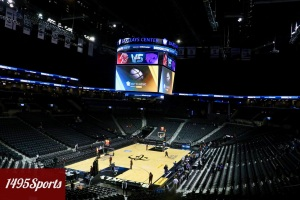 Photo of the Barclays Centr prior to the Barclays Center Classic. By Stacy Podelski